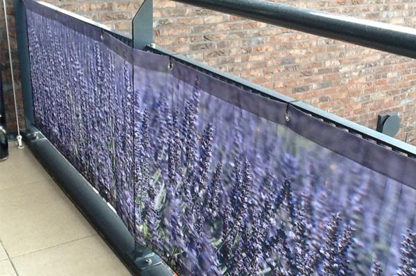 Zeil Voor Balkon : Balkondoek lavendel balkondoek met foto print